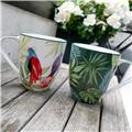 TROPICAL NIGHTS Mug Porcelaine Décor Perroquets 50 cl
