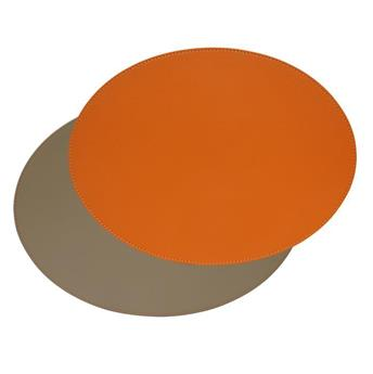 Set de Table ovale FreeForm 45 x 34  CORAIL TAUPE SC