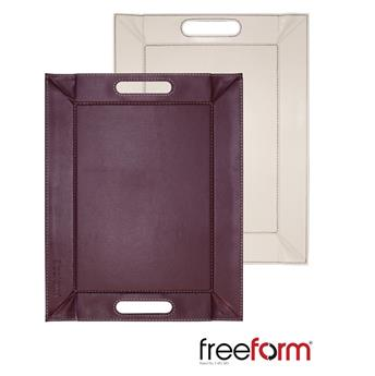 Plateau FreeForm 45 x 35  PRUNE COQUILLE D´OEUF
