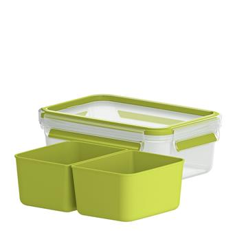 CLIP & Go Boite alimentaire rectangle 2 compartiments Emsa 1 L