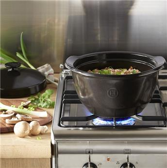 Faitout One Pot  D22 4L  Céramique Flame Emile HENRY Fusain