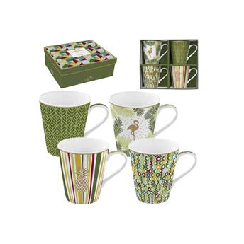 Coffee Mania Tropical Mug Conique Porcelaine Vert - les 4 SC