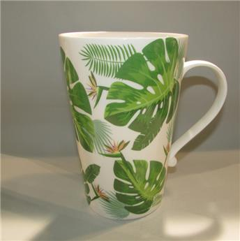 Mega Jumbo Mug XXL Porcelaine Feuille Jungle verte