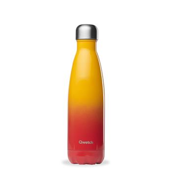 Bouteille isotherme double paroi en Inox Qwetch 500 ml Sunset Rouge Orange