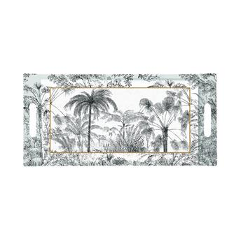 ATMOSPHERE Plateau de service rectangle mélamine 40 x 19 Retro Jungle